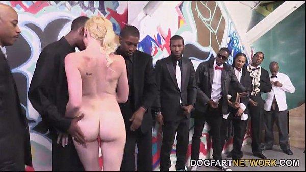 Miley May Turns An Interracial Blowbang Into A Fuck Fest Thumb