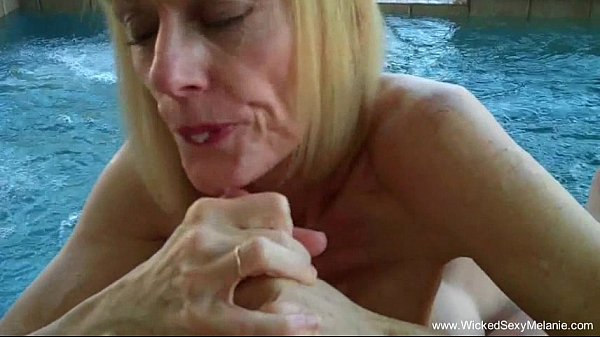 Blowjob By The Backyard Pool From Mom Thumb
