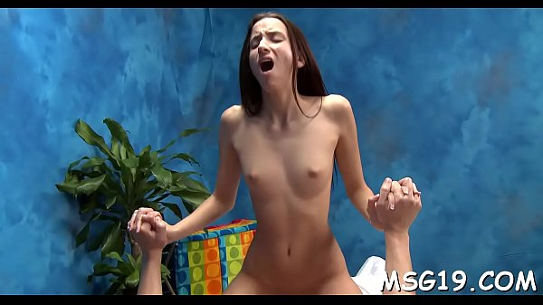 Sexy massage girl bounces on cock