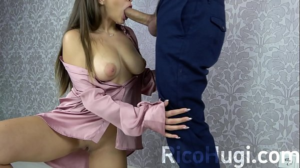 The Secretary removes Stress from the Boss. Deep Blowjob, Cum in Mouth!