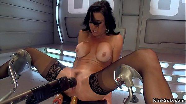 Big tits Milf anal fucks machine Thumb