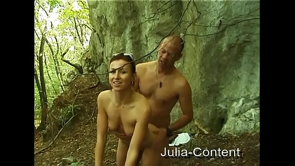 Fuck by walking in the forest