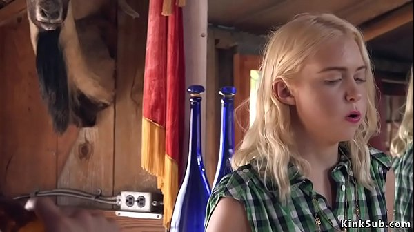 Hot ass blonde anal fucked in saloon