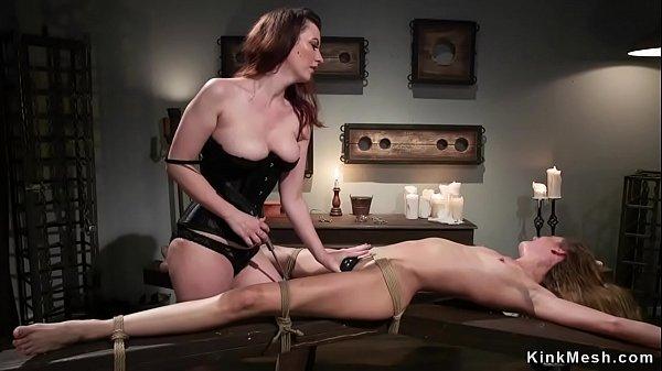Busty lesbian anal bangs tied neighbor