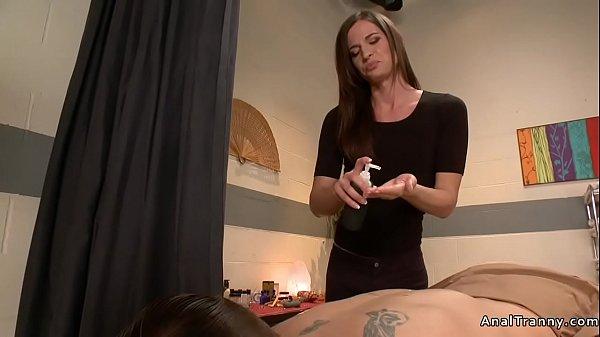 Tranny masseuse fucking big dick dude