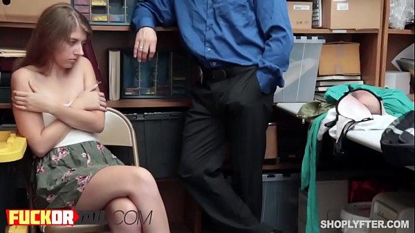 Секс с молодой грудастой блондинкой