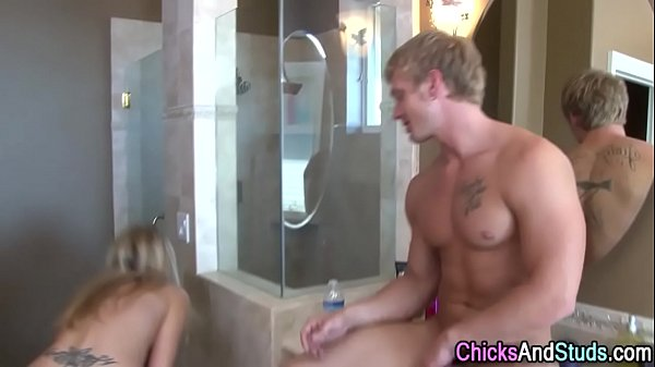 Babe jizz soaked by stud