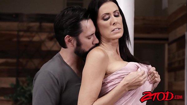 Busty MILF Raegan Foxx Rides Cock Before Taking A Creaming