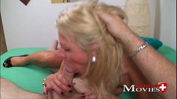 Hot blonde ex-model Claudia in porn casting in Zürich