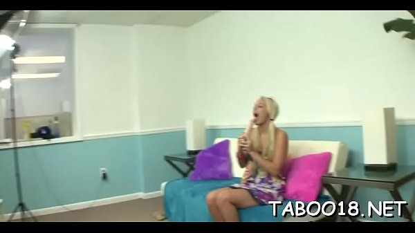 Beautiful blond loves feeling a tick dick on her cute hands