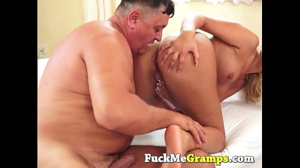Teen pussy fucked by old dick