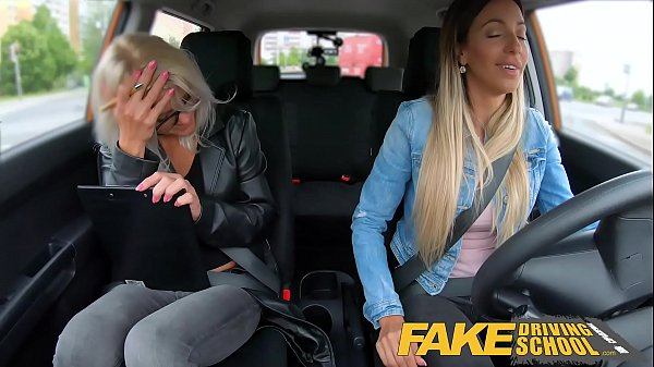 Fake Driving School Learner licks Kathy Andersons wet pussy for license Thumb