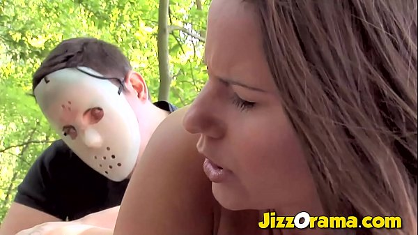 JizzOrama - Brunette Hunted In the Forest and Anal Tricked By A Masked Man Thumb