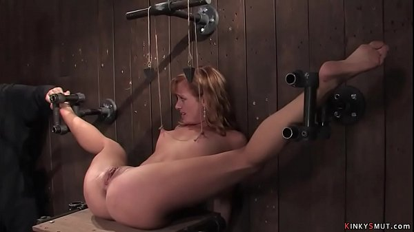 Shackled spreaded legs blonde is toyed Thumb