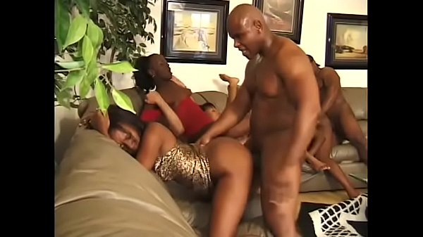 Guys are leaving theirs loads in black assholes in groupsex orgy