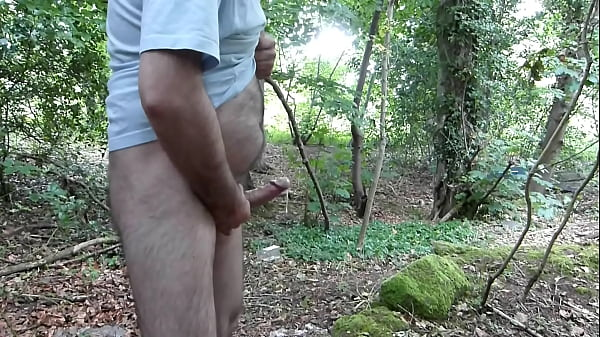 Guys masterbate in the woods — photo 1