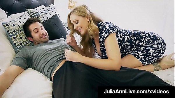 Step Mother Julia Ann Mouth Fucks Step Son's Cock! Thumb