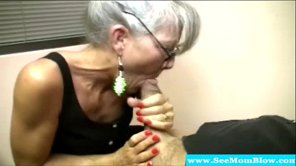 Mature: Mature Mother With Spex Sucking Cock