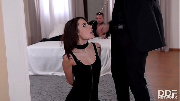Two gentlemen spank, fist and double penetrate BDSM slut Nikita Bellucci Thumb