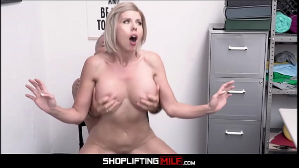 Blonde Big Ass MILF With Big Tits Amber Chase Caught Shoplifting Fucked By Guard For Freedom