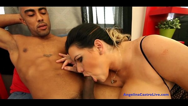 Angelina Castro Gets Mouth FULL of CUM!