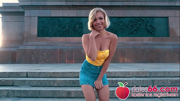 NATURAL TITS bouncing! Blonde TEEN Gabi Gold fucked by a Stranger in PUBLIC! Dates66.com Thumb
