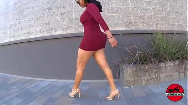 Big Booty Milf with Sexy Legs in a Short Tight Dress