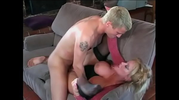 Horny cock sucking busty blond Ashley Evans takes a dick in her tight pink cunt then eats cum