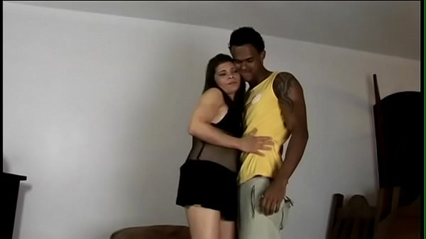 Well hung black stud tries to cut through jungle of hairy bush Brazilian cutie pie with massive garage Paula Thumb