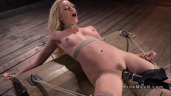 Blonde in back arched bondage vibed Thumb