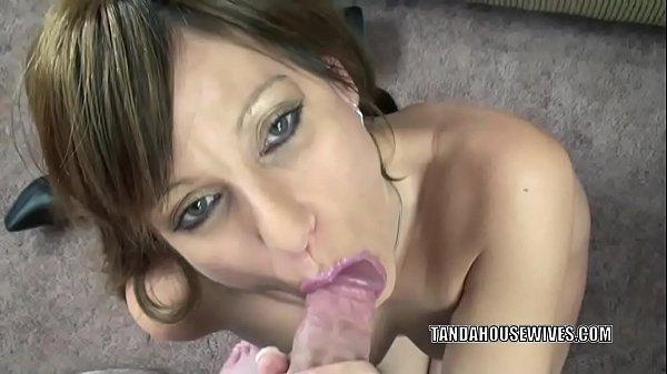 Petite MILF Brandi Minx is swallowing a strangers cock