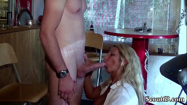 Two German MILFs Seduce Huge Dick German Boy to Fuck
