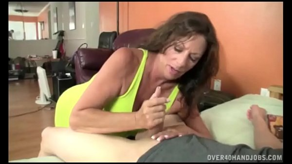 Older MILF Mrs. Sullivan Jerks Off Neighbor Boy