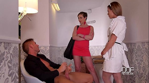 DDF Network Horny maid and wife drain a Husbands balls to Empty Thumb