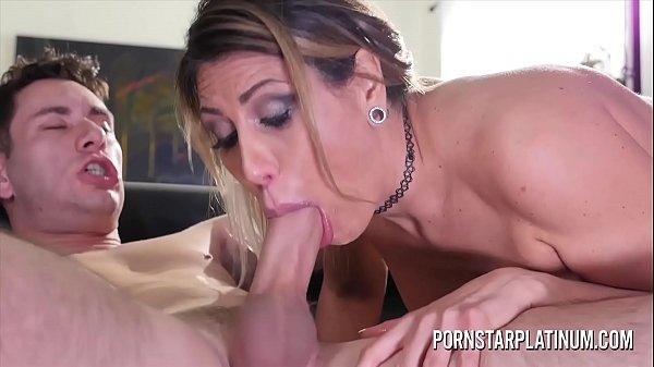 Big tit blonde Makayla Cox throat fucked by a big cock Thumb