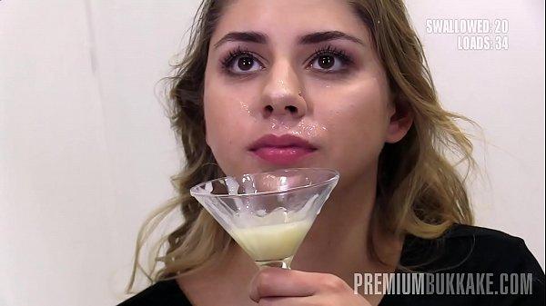 Premium Bukkake - Julie Red swallows 54 huge mo...