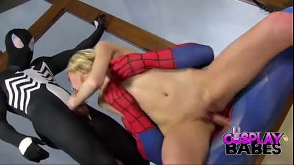 COSPLAY BABES Spiderman teams up with Venom to eat pussy - BigCams.net Thumb