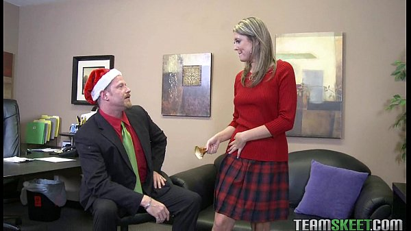 Nina Lane gave her pussy as christmas gift for her prof