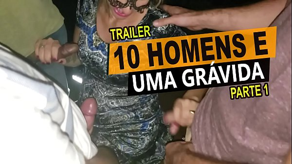 10 men and one pregnant in the movie, filmed by her cuckold husband - Cristina Almeida