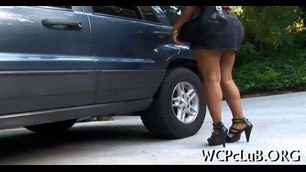 Порно домашнее развели на улице
