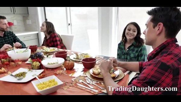 Daughters make dads thanksgiving so much Sluttier