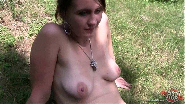 Bitch STOP - Tattooed hooker Eva fucked outdoor
