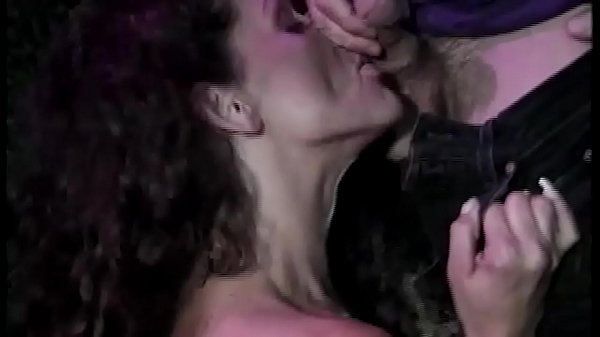Outside in the woods she get 2 hard dicks