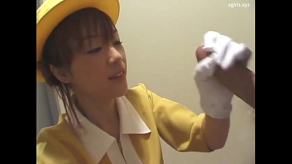 Japanese handjob with white gloves uncensored Thumb