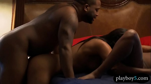 Black couple invites a stripper for a hot threesome bang