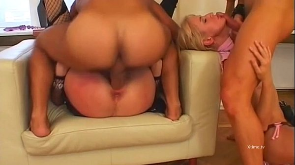 Pretty brunette fucked doggystyle