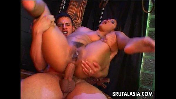 Fantastic Asian memserizer getting her ass ripp...