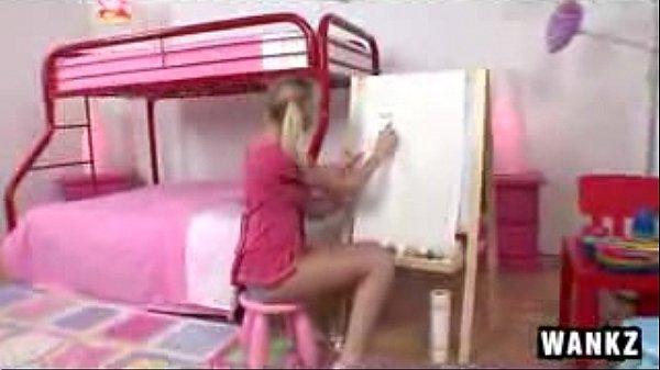 Slutty Teen Giving A Blowjob Busty Fucks Video