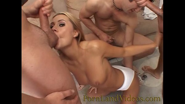 gangbang fuck for hot young blond with perfect tits