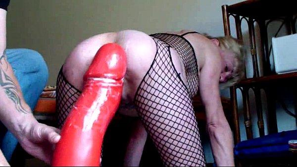 Annabelle Dangel Giant dildo double fist fucking ass lose
